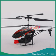 3.5 Channel Remote Control Five Fired Shells RC Helicopter with Airsoft Gun