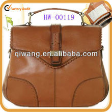 brown satchel bag with lacework for ladies