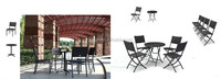 2015 Outdoor Wicker Patio Furniture New Resin Dining Table 4 Chairs