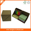 multifunctional memo pads set with Pen container PET sticky note office and school supplies