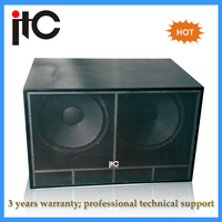 "Top sale Professional dual 18"" Subwoofer speaker box"