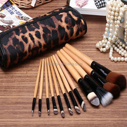 new products top quality contour stock 12pcs professional makeup brush with pouch