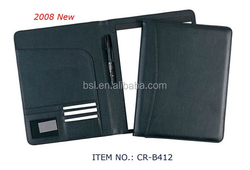 personalized leather document bag with caculator