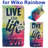 2015 Hot Sale Colored Drawing Style Wallet Leather Flip Cover for Wiko Rainbow