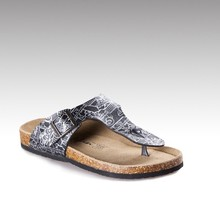 HC-303G classic style PU upper faux cow suede insole EVA sole sandals man