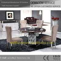 New stylish classic marble dining table set