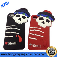 High quality Skull Silicon cell phone case for iPhone 6