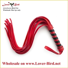 "<span class=""wholesale_product""></span> sexy sex furniture, black / red leather whip lash strap sex toy couple game"