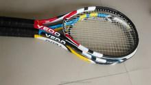 Polyester net and carbon mix glass fiber frame tennis racket , OEM tennies racket, Best price tennis rackets