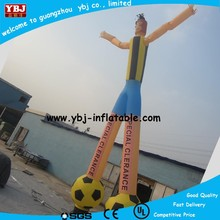 2015 Best Quality Inflatable Air Dancer, Inflatable Fly Man on Football For Sale, Hot Inflatable Destop Waving Man