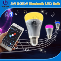 8W RGBW music control tiimer voice control dimmable led music color change bluetooth speaker with led light