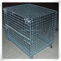 rolling metal storage cage/storage cage with wheels/metal storage cage