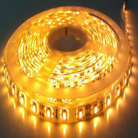 Decoration lighting CE&RoHS 12V Waterproof flexible 60leds SMD 3528 LED Strips Yellow high quality