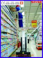 Automatic single mast vertical man lift