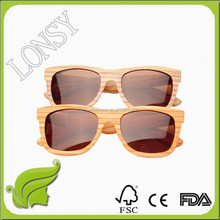 Promotional Neon Color Wayfarer Sunglasses with Mirrored Lenses, Cheap Brand Name Bamboo Sunglass