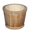 Antique style decorative finished wooden bucket for kitchen cabinet