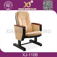 High quality theater chair folding auditorium chair with armrest XJ-110B