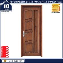 Hdf chapa puerta moldeada interior del pvc de madera de chapa de la puerta