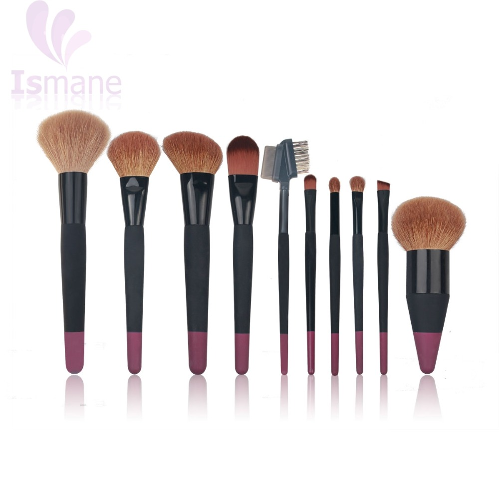 Neue ankunft Professionelle 10 stücke Make-Up Pinsel Foundation Blending Pinsel Tool Set Hohe Qualität