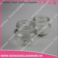 10g mini round ball shaped glass cosmetic jar with screw lid