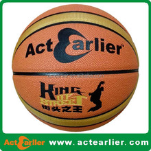 size 7 custom printed genuine leather basketball