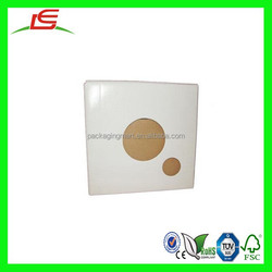 N326 Custom White Die-cut Corrugated Paper Box CD & DVD Sleeve Pop Up Box