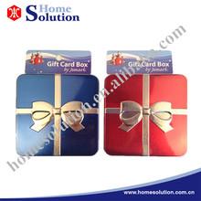 Metal Wedding Present Box Holiday Christmas Gift Card Tin