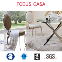 stainless steel dining table and chair sets CH138