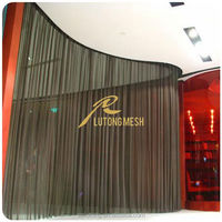 2015 New product metal mesh fabric,metallic woven fabric for wall partition screen