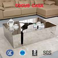 the latest stainless steel lion coffee table