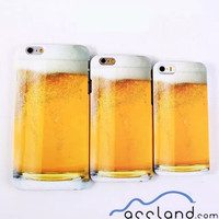Custom Beer Bubble Pattern Hard Back Cover Phone Case for iPhone 5 5S, for iphone 6