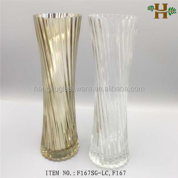 mercury decorative glass vase for flower