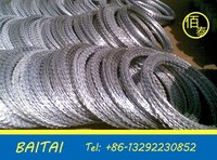 Barbed wire/concertina razor barbed wire with pallet/low price concertina razor barbed wire