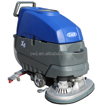 Battery power automatic traction hand held floor cleaning washing machine