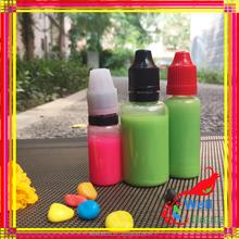 empty clear 10ml plastic round e juice bottle with pump cap