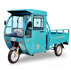 three wheel cargo tricycle with cabin