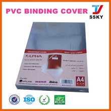 Plastic hard cover notebook for spiral book binding cover