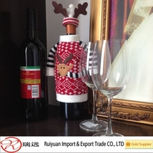 2015 New Fashion Christmas decor!!! Knit Sweater design Christmas wine bottle cover