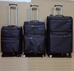 "2016 cheap 20""+24""+28"" 3PCS Nylon Luggage with brake wheel"