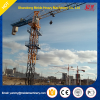 top 10 crane manufactures flat top tower crane price PT6015 for sale 10 Tons Type C