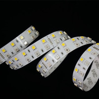 New Hot !!! RGB WHITE 24V DC Non-waterproof Dual Line 5050 LED Strip