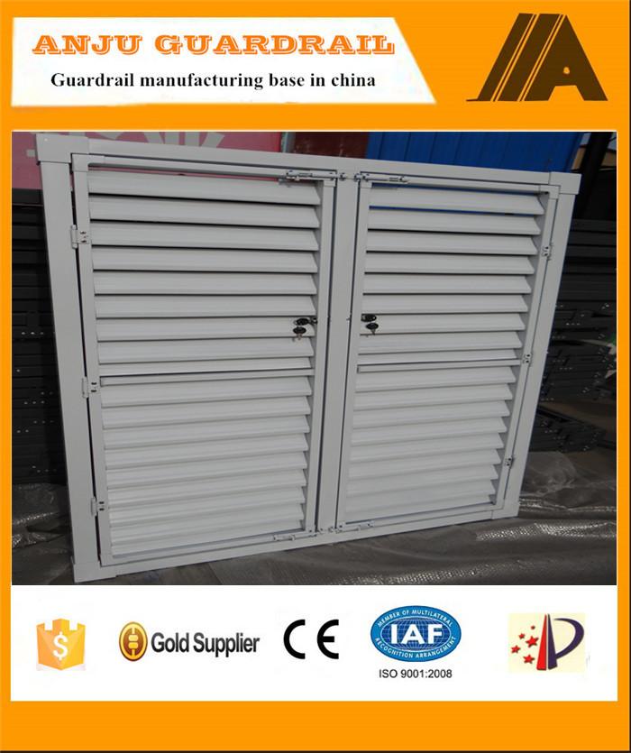 Finestra shutter-022 resistente acciaio inox tondo finestra di scatto, persiane in alluminio