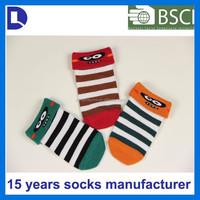 Hot selling custom roll cuff slipper cartoon korean novelty baby shoe socks