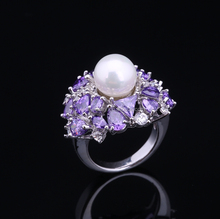 Amethyst Silver Ring , Value 925 Silver Ring, 925 Silver Ring with Purple Stone