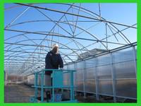 Galvanized steel frame Plastic-polycarbonate Agricultural green house sysytem