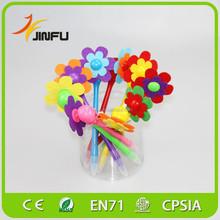 Smile sunflower plastic promotion pens