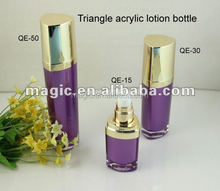 acrylic cosmetic packaging,cosmetic bottle packaging,Heart shape lotion bottle ,