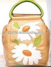 Fashion lady handbags with printed flower