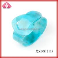 Fashion Pure Blue Charm Beautiful Design Bangles For Hot Selling (QXBG12119)