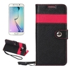 Multi colors Genuine Leather flip case for Samsung galaxy s6 edge